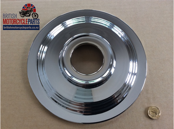 "37-3460 Brake Hub Cover Plate 8"" TLS 1969-70 - British Motorcycle Parts AKL NZ"