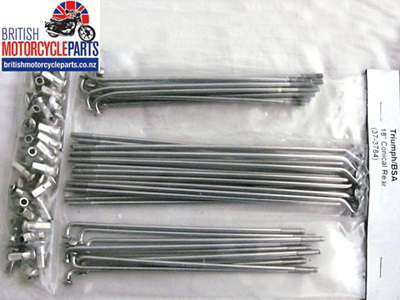 "Triumph BSA Spoke Set 18"" Conical Rear - 37-3724 37-3725"