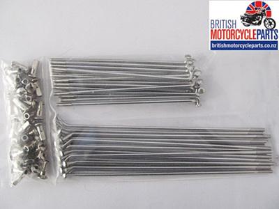 """Triumph BSA Spoke Set 19"""" Conical Front"""