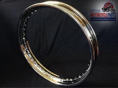 """37-7030 37-7018 Triumph 18"""" Chrome Rim Disc Rear"""