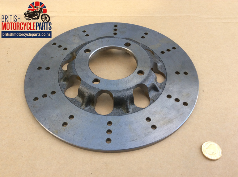 37-7175L Lightened Brake Disc - 4 Hole - Cast Iron - British Motorcycle Parts NZ