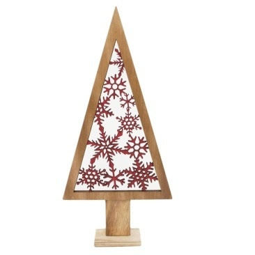 39cm Sydnie Mdf Xmas Tree Deco