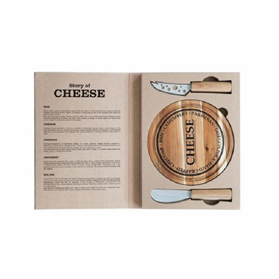 3pc Serving Cheese Set w Round Board