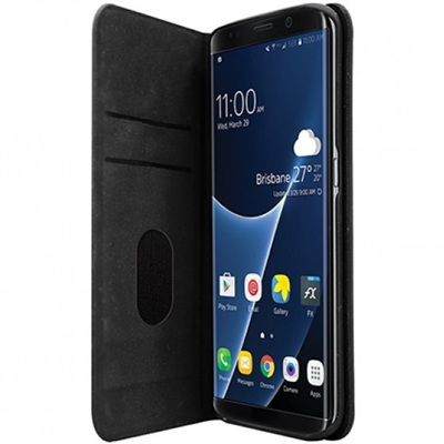 3SIXT SLIM FOLIO CASE FOR SAMSUNG S7 EDGE -BLACK