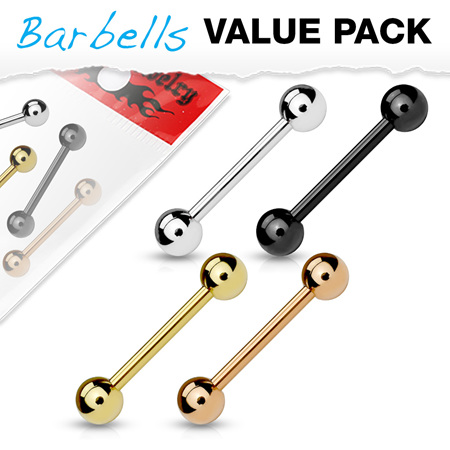 4 Pcs Value Pack Mixed IP Barbells