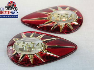 40-8014/5 BSA Petrol Tank Badges - Pear Shaped