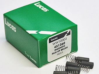 451260 Magneto Pickup Brushes - Lucas K2F