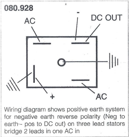 solid state rectifier bsa norton triumph classic british spare 49072ss rectifier solid state 1 phase wiring diagram