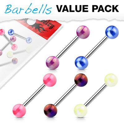 5 Pcs Metallic Coated Balls Barbells