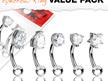 5 Pcs Pack Assorted Shape CZ Prong Set Curved Barbells