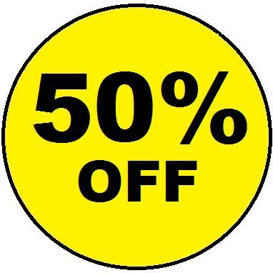 50% OFF SUPER SPECIALS
