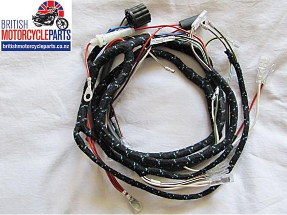 54938941 T120 TR6 T100 T90 Cloth Braided Wiring Loom Harness
