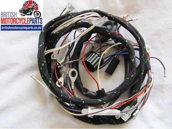 54950449 Triumph T120 TR6 T100 T90 Cloth Wiring Loom Harness 1967