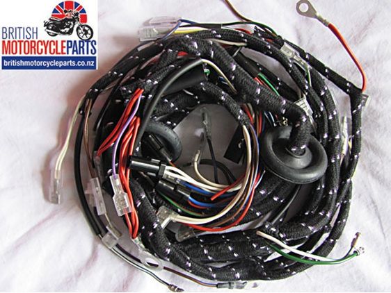 99 1259 54961593 triumph t140 tr7 cloth wiring loom harness motorcycle parts nz