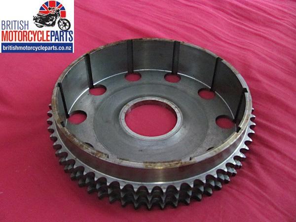 57-4640 Steel Triplex Clutch Basket Chainwheel - Clutch Sprocket Drum - Triumph