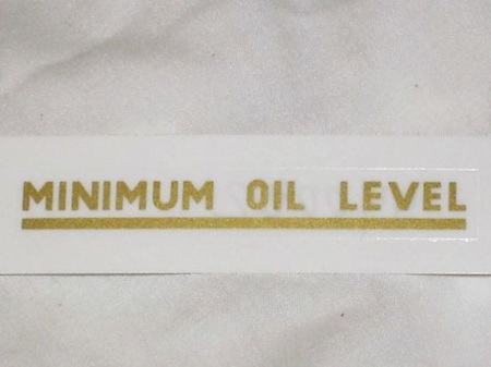 60-0003 Minimum Oil Level Decal