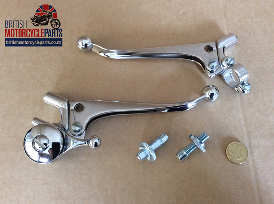 60-2073 60-2074 Clutch & Brake Lever Set - British Motorcycle Parts Auckland NZ