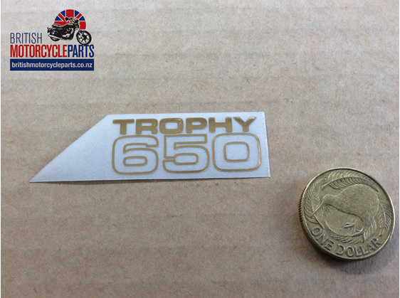 60-2104 Trophy 650 Decal - British Motorcycle Parts Auckland NZ