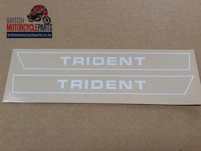 60-2564 60-2565 Trident Decals - 1971-72