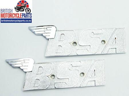 60-2568 BSA A65 A70 Petrol Tank Badges 1971-72 - PAIR