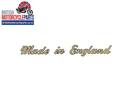 60-3361 Made in England Sticker