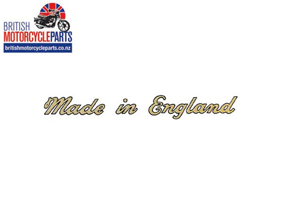 60-3361 Made in England Sticker Decal