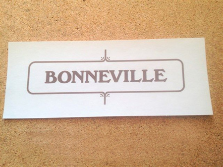 60-3722 Bonneville 650 Side Cover Sticker - 1972