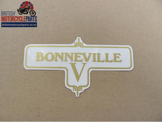 60-3950 Bonneville V Decal Triumph T120 1972-73 - British Motorcycle Parts Ltd
