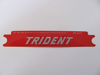 60-4149 Trident Side Cover Badge Silver/Red
