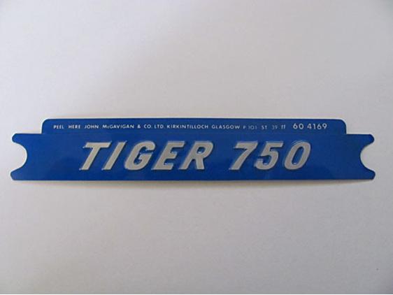 60-4169 Tiger 750 Side Cover Badge