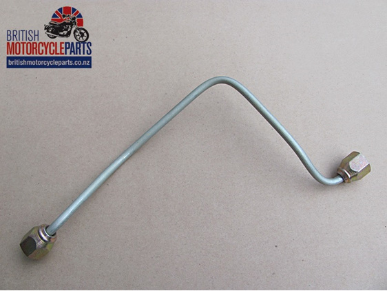 60-4179 T140 Front Brake Pipe - Top to Bottom Yoke - British Spare Parts NZ