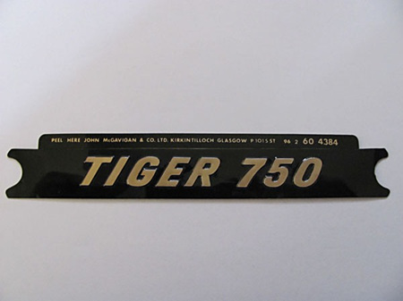 60-4384 Tiger 750 Side Cover Badge - Gold/Black