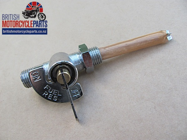 60-4512 Fuel Tap with Indicator Reserve - UK Made - Triumph Petrol Tap - British