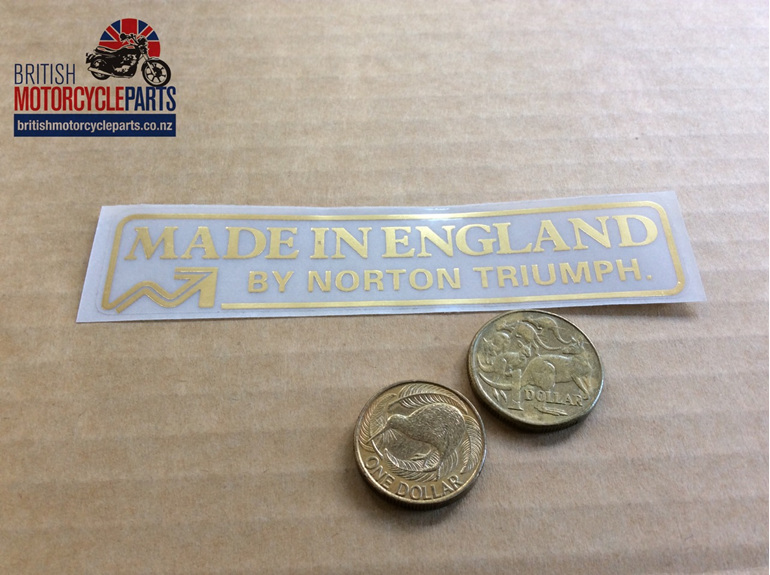 60-4556 Decal - Made in England by Norton Triumph - British Motorcycle Parts Ltd