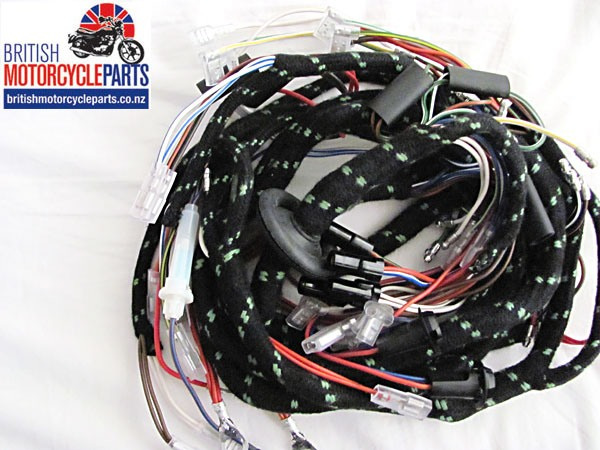 60-4559 54962253 Triumph Trident T160V Cloth Wiring Loom Harness 1975-76