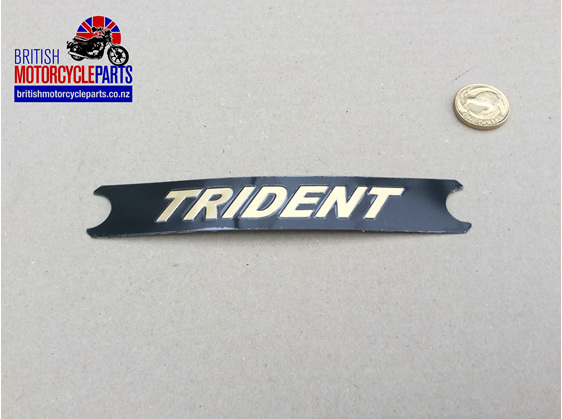 60-4569 T160 Trident Side Cover Badge Gold/Black