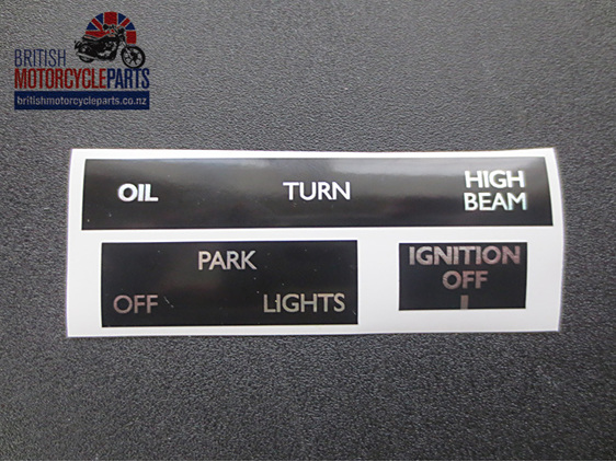 60-7003 60-7004 60-7005 Headlight Ignition Sticker Set Triumph T140 TR7 1973-78