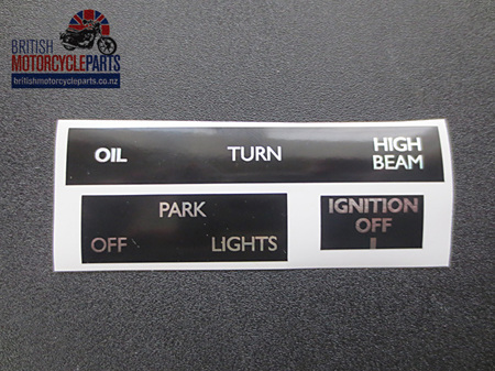 60-7003/4/5 Headlight & Ignition Sticker Set - T140