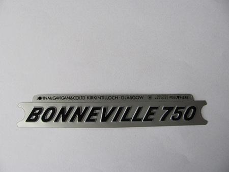 60-7054 Bonneville 750 Side Cover Badge