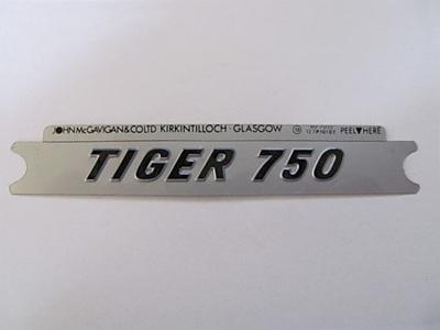 60-7055 Tiger 750 Side Cover Badge - Black/Silver