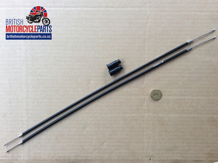 60-7084 T140E Throttle Cable J/Box to Carb - Pair