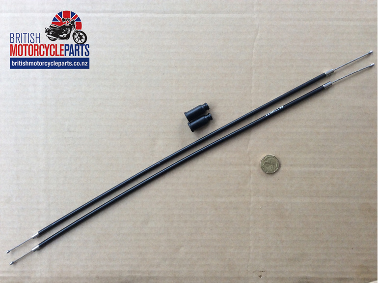 60-7084 T140E Throttle Cable J/Box to Carb - Pair - British Motorcycle Parts NZ