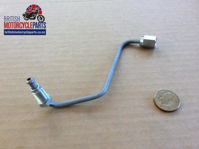60-7495 Brake Pipe - T Piece to Bottom Yoke - Triumph Twin Disc