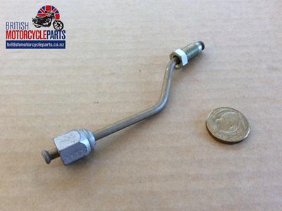 60-7496 Lower Brake Pipe - To Caliper - Triumph Twin Disc
