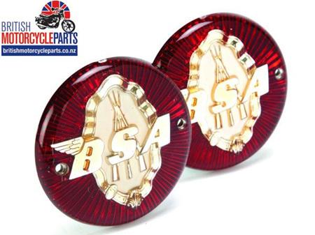 65-8220 Petrol Tank Badges - BSA Piled Arms - PAIR
