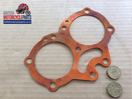 67-0255 Cylinder Head Gasket Copper - BSA A10