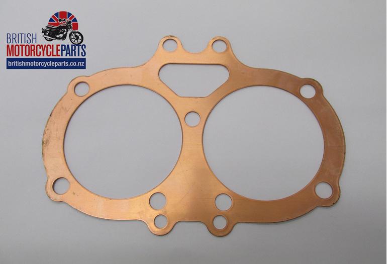 68-0781 BSA A65 Cylinder Head Gasket - Solid Copper - British Parts NZ