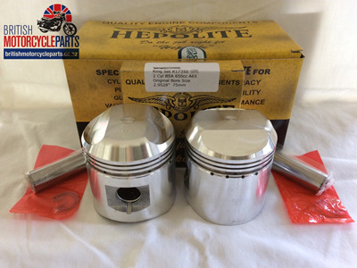 68-0910 BSA A65 Pistons & Ring Sets .040 - 19233/40