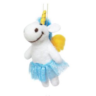 6cmh Xmas Wool Decoration-Angel Unicorn