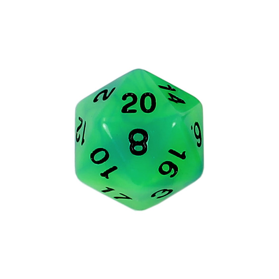 7 Blue & Green Glow in the Dark Polyhedral Dice with Black Games and Hobbies NZ